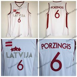 d52cf534f688 Mens Vintage White Kristaps Porzingis  6 Latvija Basketball Jerseys Cheap  Kristaps Porzingis Team Latvija Stitched Shirts S-XXL. Supplier   redtradesport