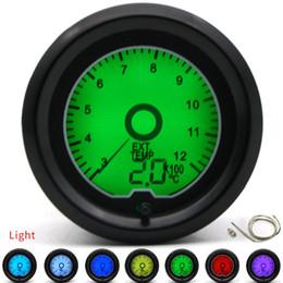 Canada 2 pouces 52mm Jauge de température des gaz d'échappement EGT jauge 7 couleur Racing jauge LCD affichage numérique voiture compteur plusieurs couleurs Offre