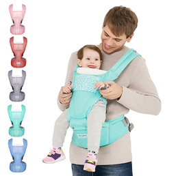 Wholesale Backpack Stool - Baby carrier with hip seat for 0-36 months infant toddler all seasons breathable waist stool strap backpack carriers front and back