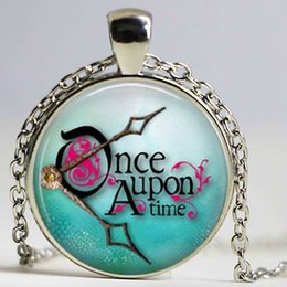 Wholesale Fantasy Photos - New Fashion Once Upon A Time Logo Necklace Glass Dome Pendant Art Photos Fantasy Jewelry for Women Children