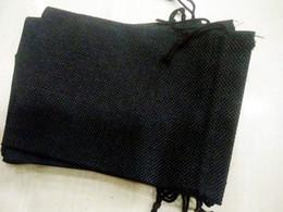 sacchetto di juta nero Sconti NERO 7x9 cm 9x12 cm 10X15 CM 13X18CM Mini sacchetto di iuta sacchetto di lino canapa gioielli sacchetto del regalo coulisse borse per bomboniere, perline