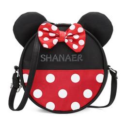 Mausmarken online-Mini Mickey Tasche Für Mädchen Kinder Designer Marke Handtaschen Niedlichen Cartoon Maus Große Ohren Frauen Umhängetaschen Umhängetasche Geschenk