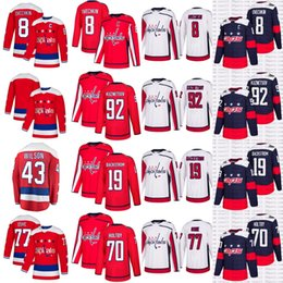 2019 New Third Washington Capitals Alex Ovechkin 77 T.J. Oshie Kuznetsov  Jay Beagle Backstrom Home White Stadium Series Hockey Jerseys 46f3cc1b9