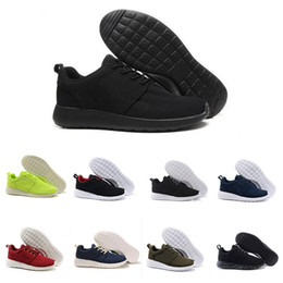 Wholesale Lace Up Boots Cheap - Cheap Wholesale men women Running Shoes Black Blue low boots Lightweight Breathable London Olympic Trainers Sneaker EUR 36-45