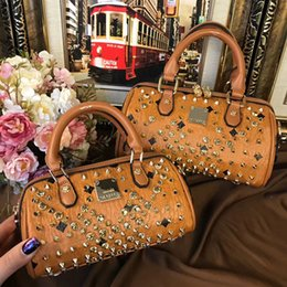 Wholesale Ladies Rabbit Fur Tops - 2018 Luxury Brand designer rivet Handbags full drill diamond Shoulder top Replica Bag Bags 5A quality Purse lady women wallet 180410003AWJ