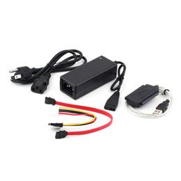 """Wholesale Ata Sata Power Adapter - 1pc USB 2.0 to IDE SATA S-ATA 2.5 """"3.5"""" HD HDD Hard Drive Adapter Converter + Power Cable OTB US Plug Plug-and-play"""
