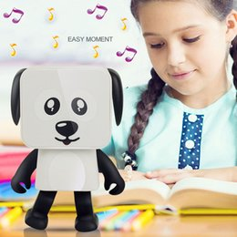 Wholesale party robots - Party Favor Mini Wireless Bluetooth Speaker Dancing Robot Dog Stereo Bass Speakers Electronic Walking Toys Kids Gifts Speaker WX9-195