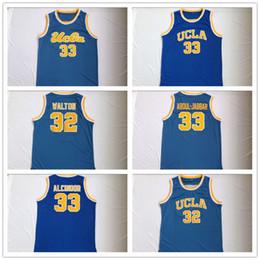 Wholesale ucla basketball jersey - Men's 33 Alcindor ABDUL-JABBAR And Walton High Quality Blue Stitched UCLA College Basketball Jersey
