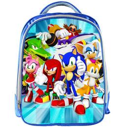 55f04b3083 sonic cartoons Coupons - 13inch Sonic Boom Boys Backpack Girl School Bags  School Backpack Bookbag Children
