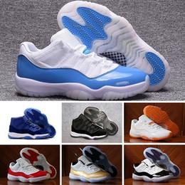 the best attitude 3a6da bae58 2018 Nike Air Jordan 11 Retro Release 11 Concord Back Number 45 Men 11S Negro  Blanco Zapatos de fibra de carbono real de la mejor calidad con la caja ...