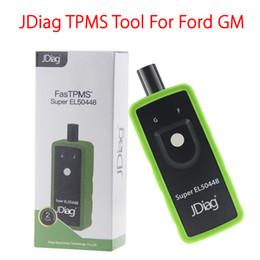 Wholesale Ford Tire - JDiag Super EL-50448 TPMS Relearn Tool For Ford GM Opel Tire Pressure Monitor Activation System EL50448 Car Diagnostic Tools