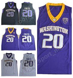 076db7bedafd Hommes Basketball Markelle Fultz College Washington Huskies Maillots 20  Homme Violet Noir Blanc Couleur Équipe Université Fultz Jersey Markelle  Vente