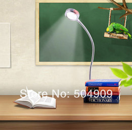 Wholesale Read Steel - 3W 3*1W Warm White LED Bedside Desk Table Reading Lamp Clamp Clip Office Study Light Bulb on off switch Flexible