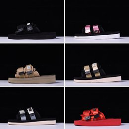 Wholesale black flat gladiator sandals - 2018 New Arrival CLOT X Suicoke MOTO-VS Sandals Fashion Men And Women Summer Slippers Beach Outdoor Shoes