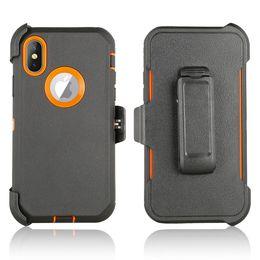 beliebte handy-marken Rabatt Für iPhone Xs Max Xr Fall 6 6s 7 8 Plus X Abdeckung Gürtelclip Kick Stand Shock Proof Case Tough Rüstung Cover Hybrid Combo Case