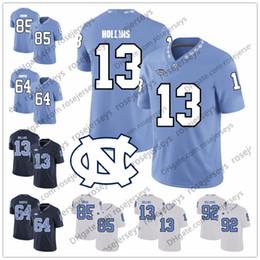 1d4daf8b7 UNC North Carolina Tar Heels  13 Mack Hollins 64 Jeff Saturday 87 Brandon  Tate 88 Hakeem Nicks 6 Cade Fortin Blue White Jerseys