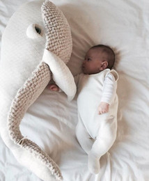 Wholesale Babies Stuff - 90cm New Style Whale Plush Toys Baby pillow Big Fish Cloth doll Whale stuffed plush animals doll Children Birthday Gift