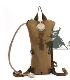 Wholesale Fans Manufacturers - Camouflage with 3L bladder outdoor mountaineering water bag outdoor manufacturer direct-selling army fan double shoulder bag.