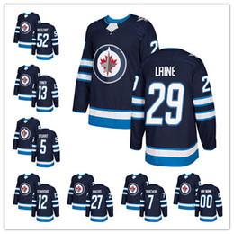Wholesale Green Patrick - Winnipeg Jets 2017-2018 New Hockey Jerseys #29 Patrick laine #52 Roslovic #13 Tanev #5 Stuart #12 Stafford Any custom embroidery