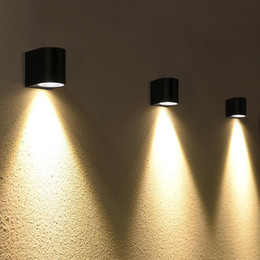 applique da parete esterne Sconti Lampada da parete a LED moderna 3W 6W Applique da parete Lampada da parete esterna impermeabile a LED per esterni su e giù Apparecchi di illuminazione AC100V-240V