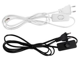 Interrupteur d'inondation en Ligne-1.8m Interrupteur Prise UE Câble D'alimentation Sur Off Cordon D'alimentation AC 220V Pour LED Lampes Projecteurs Muraux LLFA