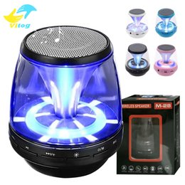Wholesale Hands Free Cars - Wireless Bluetooth Speakers Powered Subwoofer LED Light Support TF Card FM MIC Mini Digital Speaker car hands-free calls M28