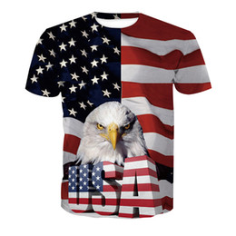t shirts men full print Coupons - Men T-shirt Eagle 3D Full Print Man Casual Tops Unisex Short Sleeves Digital Graphic Tee Shirt Tees T-Shirts Blouse (RLT-2547)