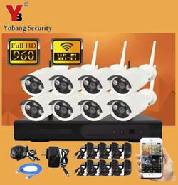 Système de caméra de vidéosurveillance sans fil YobangSecurity Kit 8CH WIFI NVR + 8x 1.3MP 960P Système de vidéosurveillance IP66 IP extérieur IP Camera ? partir de fabricateur