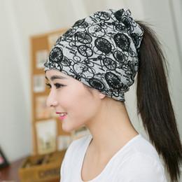 b7080118f57 New Design Women Beanies Black Circle Caps Spring Women Beanie Autumn  Winter Hats For 3 Way To Wear Bonnet Scarf Caps