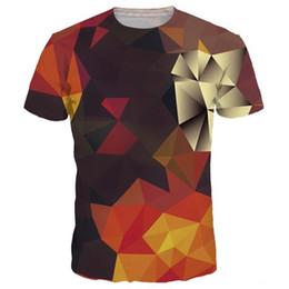 Wholesale Color Block Tee Shirts - 3D T shirts 3d T-shirt Men Women Summer Tees Print Color Blocks 3d T shirt Fashion Hot Tshirts