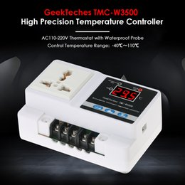 Wholesale digital thermostats - TMC-W3500 AC110-250V LCD Thermoregulator Digital Temperature Controller Thermocouple Thermostat + Socket Waterproof Sensor Probe