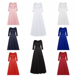 Wholesale Chiffon Dinner Dresses - European new autumn long bride evening dress   bridesmaid dinner sleeves female toast clothing   into the shop to pick more styles