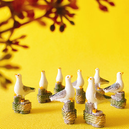 Wholesale Gardening Birds - sale~10 Pcs bird pigeon animals  miniatures cute  fairy garden gnome moss terrarium decor crafts bonsai figurine statue