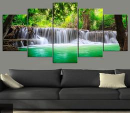 Paysage vert peinture à l'huile en Ligne-No Frame Wall Art Photo Imprimé Toile Peinture à l'huile pour la Maison Dortoir Décor Vert Automne Paysage
