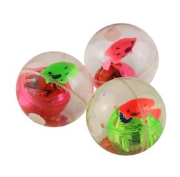 flash ball kids bouncy ball with led flashing light birthday gift light up toys halloween novelty gag darkness magic parties toy