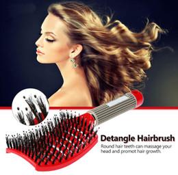Canada Brosse à cheveux cuir chevelu massage peigne professionnel femmes enchevêtrement fournitures de coiffure brosses combos bouclés Detangle cheveux brosse pour outils cheveux supplier combo brush Offre