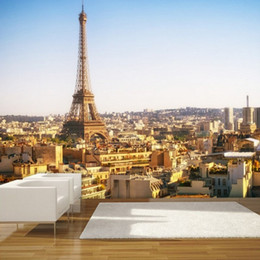 Wholesale Paris Wall Mural - Beibehang Custom Any size wall papers home decor Paris wallpaper mural bedroom living room wall paper wallpaper for walls 3 d