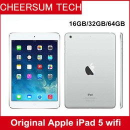 "Wholesale Apple Ipad Camera - 2017 Refurbished iPad Air Genuine Apple iPad 16GB 32GB 64GB Wifi iPad 5 Tablet PC 9.7"" Retina Display IOS A7 refurbished Tablets DHL"