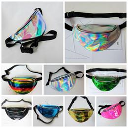 Wholesale Body Art Party - Waist Bags Women Fanny Pack PU Laser Purse Should Waist Chest Bag Hip Bag Punk Party Sport