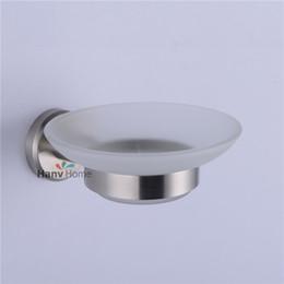 Sapone pennello online-Spazzola Accessori per il bagno in vetro in acciaio inossidabile nichel 304 # Portasapone / portasapone / portasapone 06-005 Portasapone