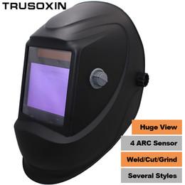 e077541790c28 Big View Eara 4 Sensor de Arc DIN5-DIN13 Solar Auto Escurecimento TIG MIG  MMA Máscara de Solda de Moagem   Capacete   Soldador Cap   Soldador Óculos  ...