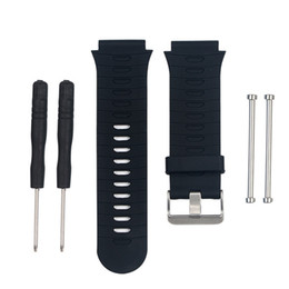 Наручные часы онлайн-Durable Soft Silicone Strap Watch Band Lugs Adapters For Garmin Forerunner 920XT Adjustable Length Replacement Wrist Watchband