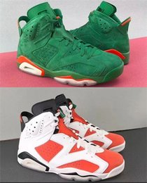 Wholesale Up Training - (with box) 2018 High Quality Gatorade 6 Men Basketball Shoes 6s Gatorade Green Orange Training Sneaker Sports Shoes Size Eur 40-47
