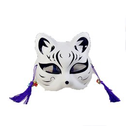 cosplay cat face mask Promo Codes - Anime Figure Zephyr Cos Half Face Cat Full Face Cat Face Mask Anime Fox Dark Part Cat Cosplay Prom Party Mask Decoration