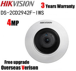 Wholesale Hikvision Ip Cameras - Hikvision DS-2CD2942F-IWS 4MP POE Wi-Fi PTZ View Fisheye CCTV Network Camera Fisheye IP Camera