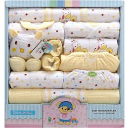 оптовые ящики для одежды Скидка Розничная или оптовая 0-1 лет Зима Утолщение Детская одежда Чистый Хлопок новорожденного подарочной коробке новорожденного ребенка белье 18 комплектов детская одежда