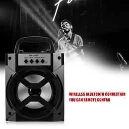Wholesale Bluetooth Loud Speaker - MS-134BT Bluetooth Speakers Portable Subwoofers TF Card FM Radio Speaker Sound Box Outdoor Loud Speaker for Cellphones ZC1269600