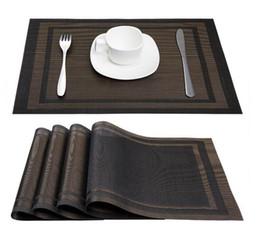 Manteles individuales online-Placemats Mesa de Comedor de PVC Estera de Aislamiento de Calor Resistente a las manchas Manteleta Antideslizante Lavable Tejido de Vinilo Almohadilla de Restaurante Esteras de la Placa