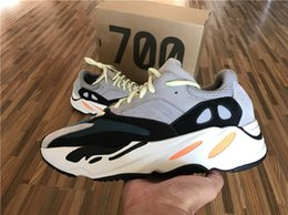 Wholesale Mens Basketball Shoes Best - Best Quality Kanye West Wave Runner 700 Running Shoes Mens Women 700 Basketball Shoes Running Sneakers Athletic Outdoor Shoes Original Box