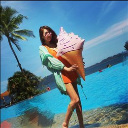 """Wholesale Ice Cream Float - Huge Inflatable Ice Cream Cone Pool Float Swimming Summer Pool Beach Party 36"""" Inches"""